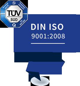 DIN ISO 9001:2008 zertifiziert